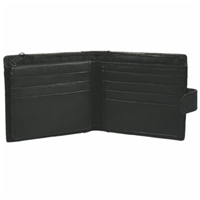 Nappa Leather Wallet Black With Tab