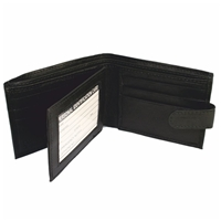 Nappa Leather Wallet Black With Tab, 9 Card Slots