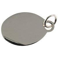 Small Polished Oval Tag For Engraving Message 15 x 19mm
