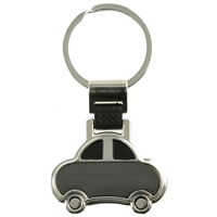 Black Car Keyring With Engraving Panel