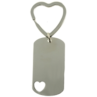 Heart Dog Tag Keyring