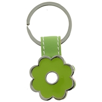 Green Flower Keyring