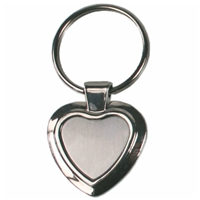 Heart Shape Metal Key Ring Ideal for Engraving