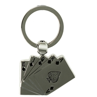 Playing Cards Metal Key Ring