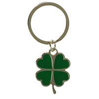 Green Clover Leaf Key Ring