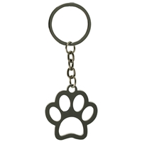 Paw Print Metal Key Ring