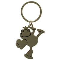 Happy Frog Metal Key Ring