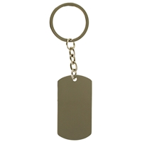 Dog Tag Metal Key Ring
