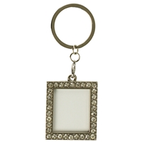Rect Photoframe Clear Crystal Key Ring