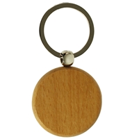 Round Wood Key Ring