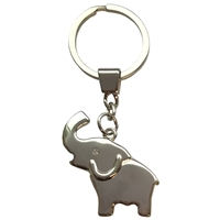 Elephant with Crystal Eye Metal Keyring