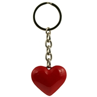 3D Red Metal Heart Keyring