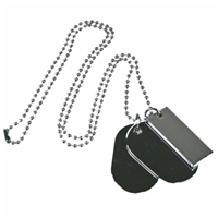 Fashion Metal Ball Chain With Three Dog Tags