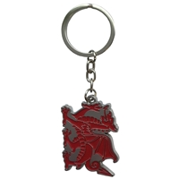 Welsh Dragon Metal Keyring