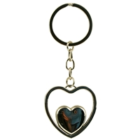Heart Inside Heart Metal Keyring