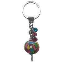 Multi Colour Lollipop Keyring