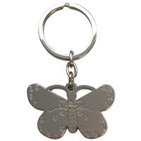 Butterfly Metal Keyring
