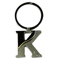 Alphabet Key Ring With Crystal Letter K