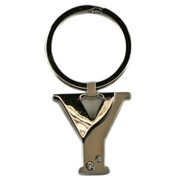 Alphabet Key Ring With Crystal Letter Y