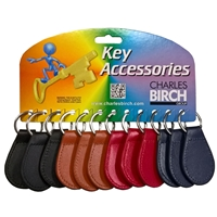 Leather Keyring Card of 12
