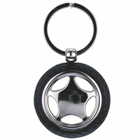Car Wheel Key Ring With Tyre