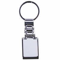 Wide Metal Bar Key Ring Ideal for Engraving