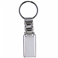 Slim Metal Bar Key Ring Ideal for Engraving