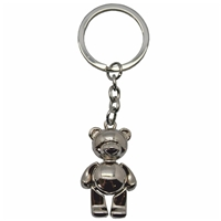 Teddy Bear Metal Key Ring With Moving Arms And Legs
