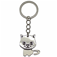 Nodding Cat Metal Key Ring