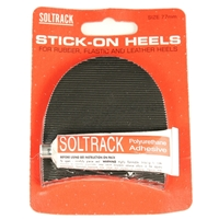 Soltrack DIY Rubber Heels 77mm 3 Inch Black