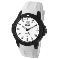 Limit Watch - Gents Sport Watch White With White Face