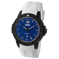 Limit Watch - Gents Sport Watch White With Blue Face