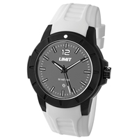 Limit Watch - Gents Sport Watch White With Grey Face