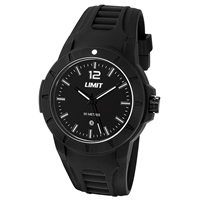 Limit Watch - Gents Sport Watch Black With Black Face