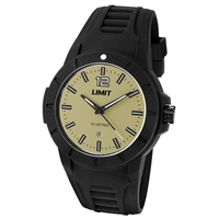 Limit Watch - Gents Sport Watch Black With Cream Face