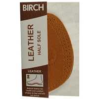 Birch Leather Half Insoles Large Sizes 7 - 8