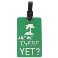 Birch Luggage Tag Green ARE WE THERE YET?