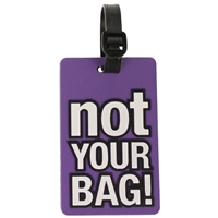 Birch Luggage Tag Purple NOT YOUR BAG!