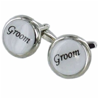Cufflinks Groom Faux Leather Box