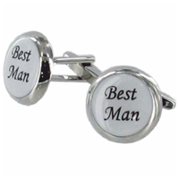 Cufflinks Best Man Faux Leather Box