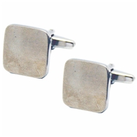 Cufflinks Plain Square Brushed Chrome