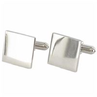 Cufflinks Plain Square Faux Leather Box