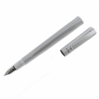 Grand Libra Fountain Pen Satin Silver Finish In Box
