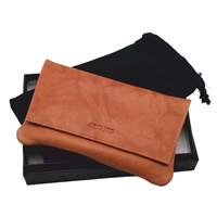 Tan Leather Tobacco Pouch