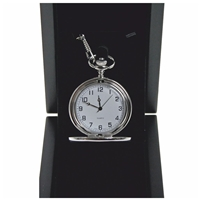 Silver Full Hunter Watch, White Dial, Arabic Numerals
