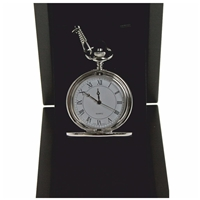 Silver Full Hunter Watch, White Dial, Roman Numerals