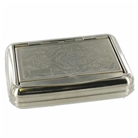 Tobacco Box Engraved With Internal Paper Holder