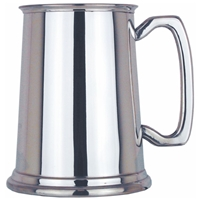 Plain Straight One Pint Pewter Tankard