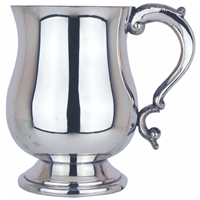 Georgian Style One Pint Pewter Tankard