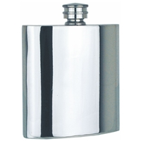 Plain Straight 4oz Pewter Hip Flask